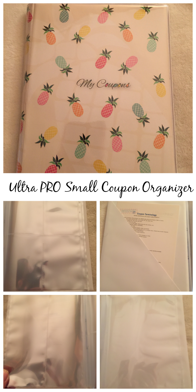 I received from Ultra PRO 1 small, 1 large & 1 3-ring binder. The difference is the small & large size coupon organizers hold different size coupons.