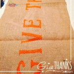 Thanksgiving Burlap Table Runner ~ Quick and Easy!