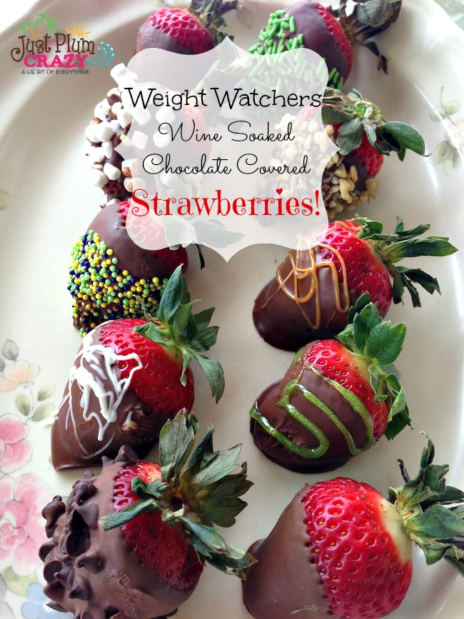 Weight Watchers Wine Soaked Chocolate Strawberries