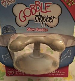 Loving Pets is making it easy to turn any existing feeding dish into a slow feeder with the new GOBBLE STOPPER to stop dog bloat. Slows eating much as 500%.