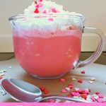 Frozen Raspberry White Hot Chocolate ~ Day 10 #ValentinesDesserts