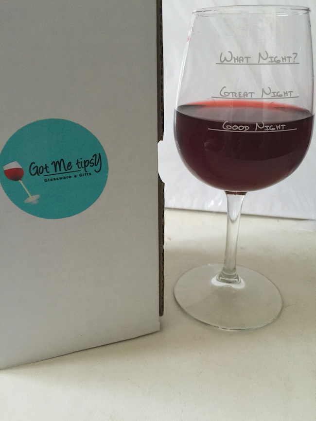 """""""What Night?"""" funny Wine Glass is a fun & unique gift for any wine lover or enthusiast. A perfect housewarming, birthday, graduation or anniversary gift."""