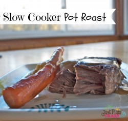 One of my favorite comfort foods is a pot roast dinner. Potatoes, carrots, rich beef gravy and rolls. It doesn't get much better than that in my book.