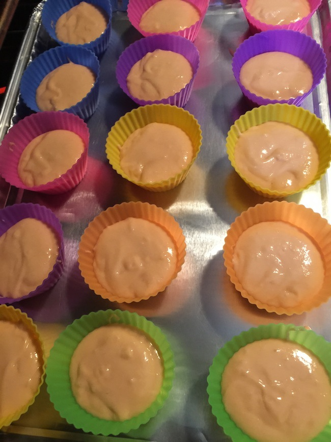 A regular box of cake mix makes more than 12 cupcakes. The Rainbow Wave Silicone Baking Cups come in a 24 pack so you can make all your cupcakes at once.