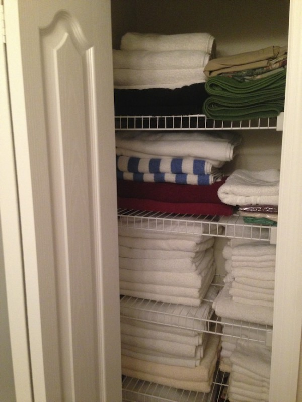 Home Building Tips - adding linen closets in bathrooms.