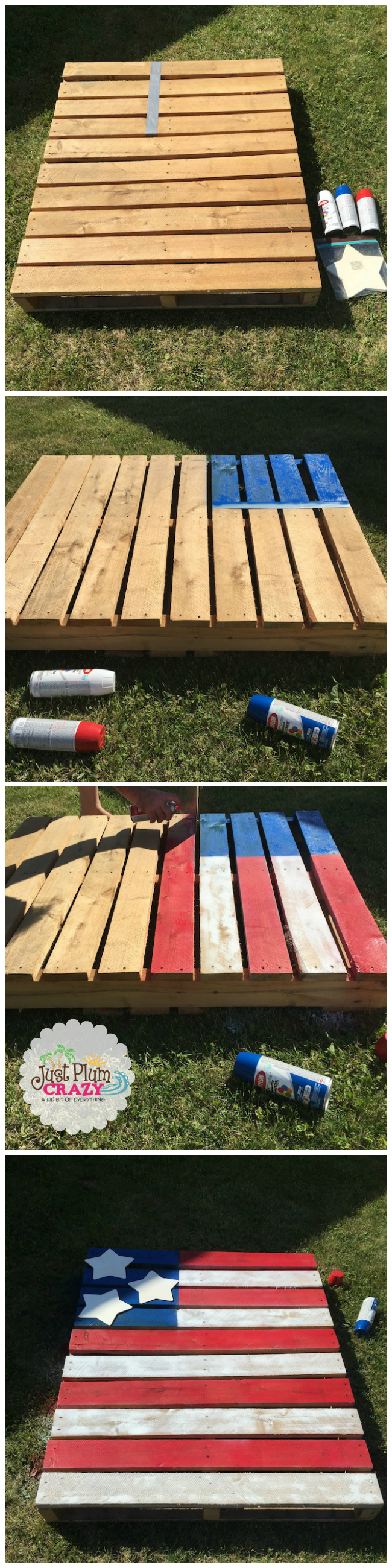 One thing that helps me to relax is doing crafts. Making a DIY 4th of July Pallet Flag wouldn't take me that long. I had some help from hubby & Snapple Tea.