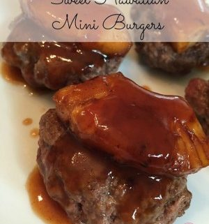 Today I have a recipe from donnahup.com. It's her Sweet Hawaiian Mini Burgers. She fixes them up gluten free style & are super tasty on Hawaiian rolls too!