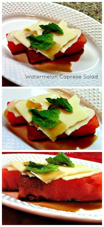 Welcome to day 2 of our 12 days of Summer Celebration. Today we are giving you the recipe for Easy Watermelon Caprese Salad. Come back every day.