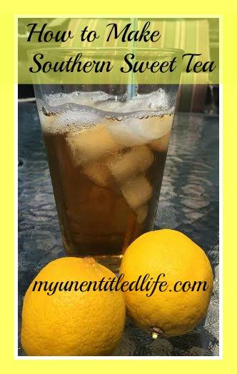 It's summer time and it's hot. There's nothing better when you're hot then a refreshing drink. I make my southern sweet tea recipe daily and from scratch.