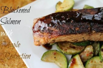 If you are looking for a recipe that is full of flavor & is a bit spicy & a bit sweet than look no further than this Blackened Salmon with Maple Reduction.