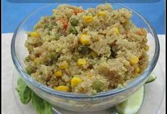 Welcome back to the last day of our 12 days of blogger's favorite recipes! This quinoa recipe comes from Sharing A to Z. It is fast, healthy & so versatile!