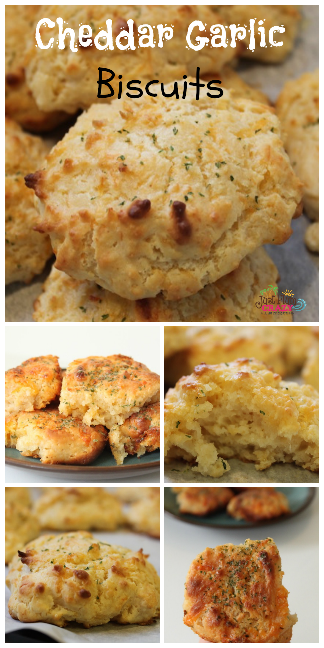 These cheddar garlic biscuits are the perfect accompaniment to almost any meal. They are fast and easy to make, and include no pre-made ingredients.