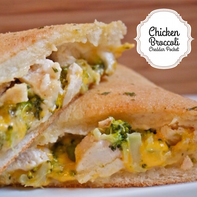 The Chicken Broccoli Cheddar Pocket is a homemade hot pocket. I love to find ways to create fresh, home-cooked copies of my favorite processed meals.