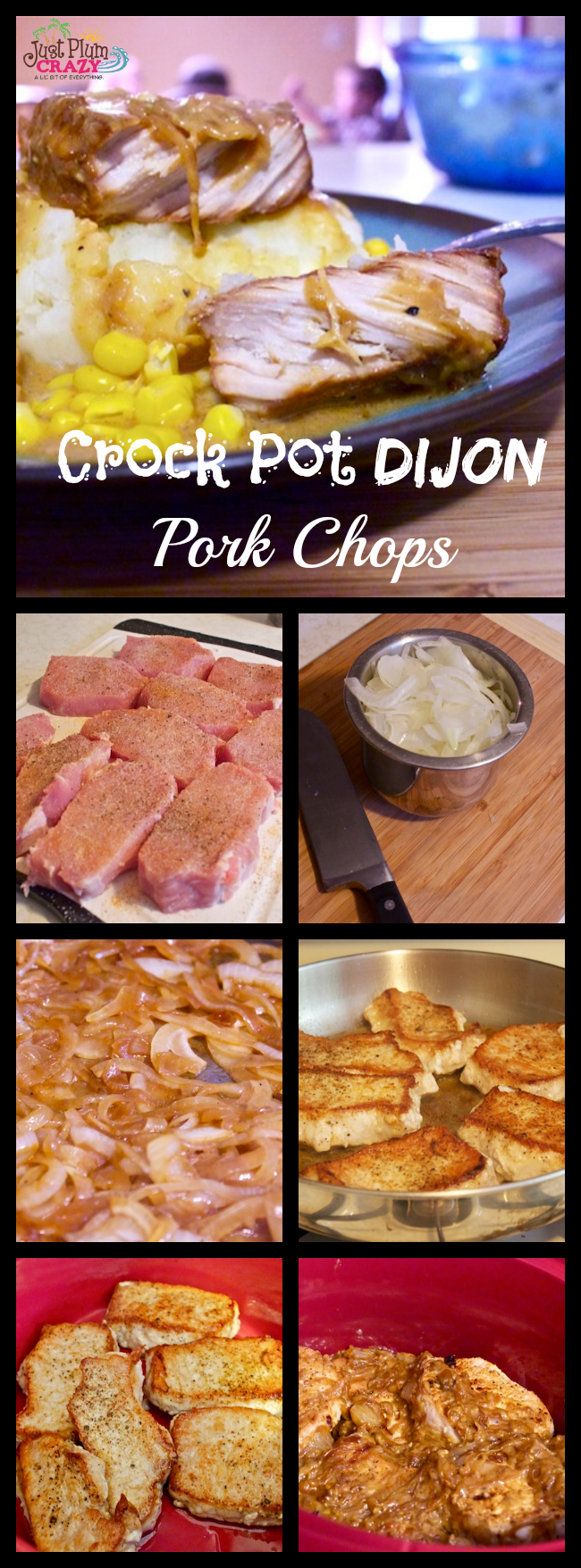 Slow cooked pork chops pair nicely with a Dijon cream sauce for a tasty twist to your pork chop routine. It only takes about 30 minutes to throw together.