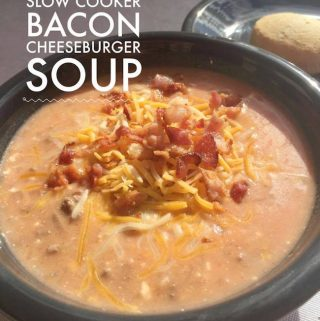 Welcome to 12 Days of Slow Cooker recipes with Bacon Cheeseburger Soup. It's easy to throw together and you can even make a freezer meal with it.