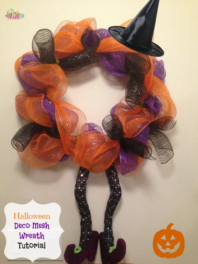 halloween deco mesh wreath 2
