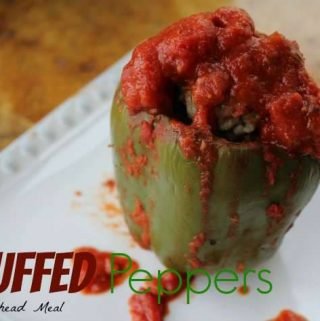 Welcome to day 5 of our 12 days of slow cooker meals. Today we are sharing one of everyone's favorite....Slow Cooker Stuffed Peppers. Yum!