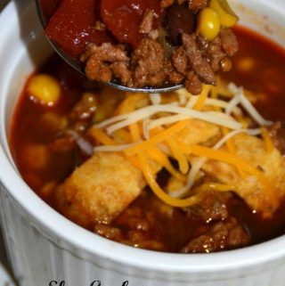 Welcome to day 2 of our 12 Days Of Slow Cooker Recipes and I have a wonderful fall recipe for you! Today we are sharing Slow Cooker Taco Soup.