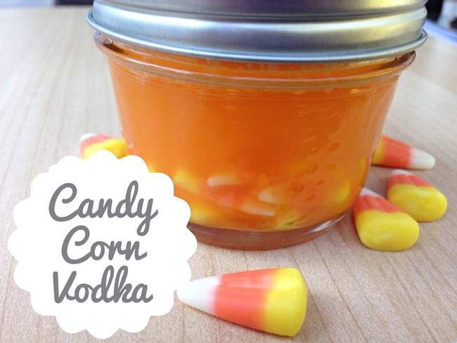 Candy corn vodka