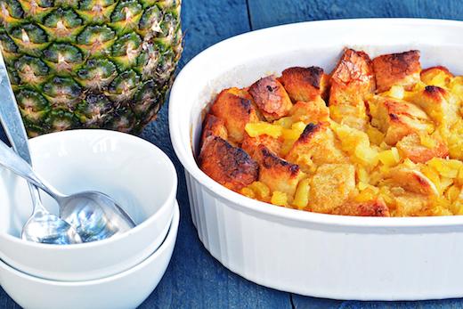 Pineapple bread pudding recipe from Golden Blossom Honey