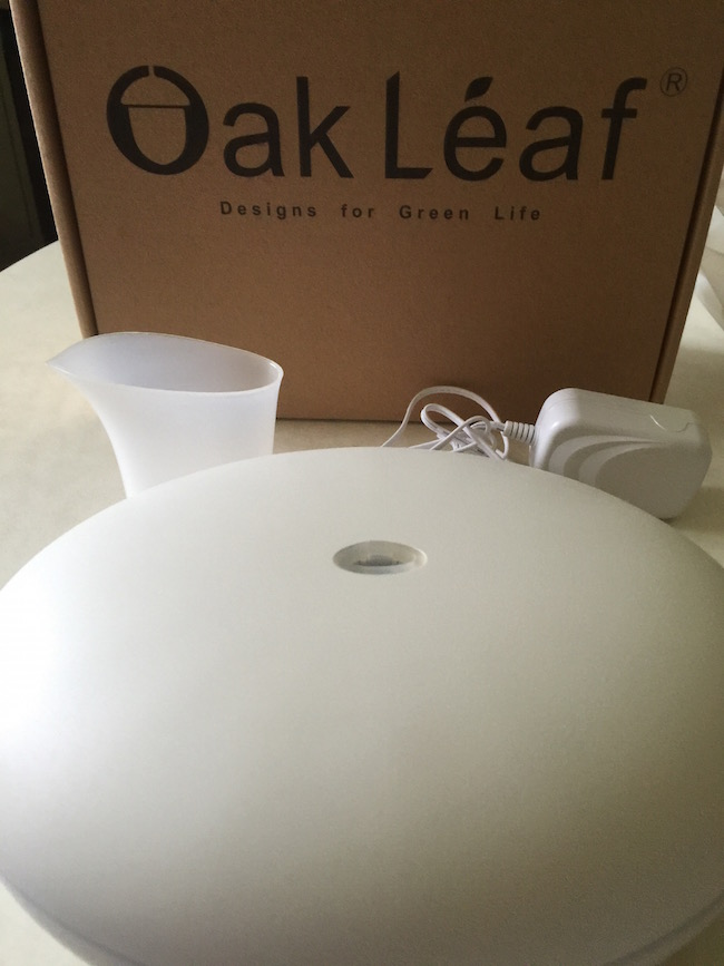 I received the Oak Leaf Essential Oil Diffuser and I was surprised at the size of it. It's about the size of a salad bowl...no kidding!