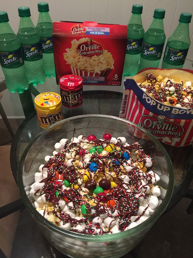 For this movie, War Room, we created some chocolate marshmallow movie munch. It was simple to put together.