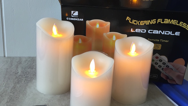 """The Flickering Flameless Candles come in a set of 3 in 4"""", 5"""" & 6"""". There are many uses for them whether it's a romantic dinner or a bath by candlelight."""