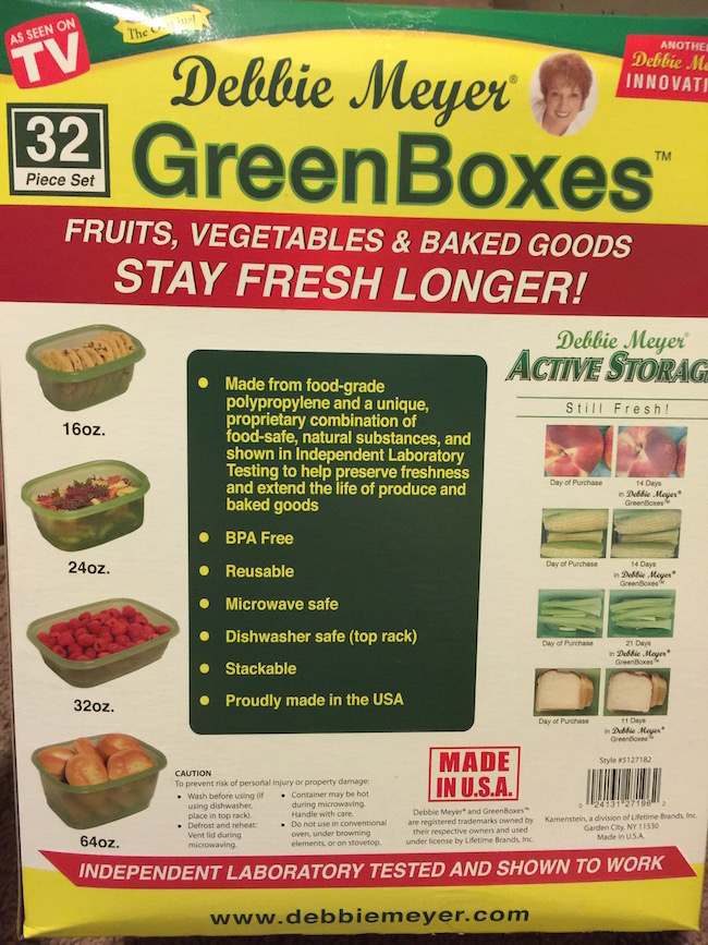 The Debbie Meyer GreenBags ® help preserve the freshness and prolong the life of fruits, vegetables, baked goods and snacks.