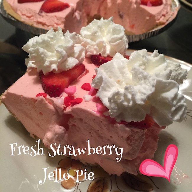 This Fresh Strawberry Jello Pie recipe is not only great for Valentine's Day but every other day also. It's refreshing & everyone will love it.