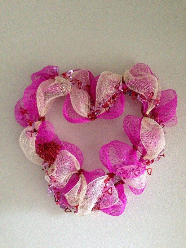 Deco Mesh Wreath Tutorial For Valentine S Day