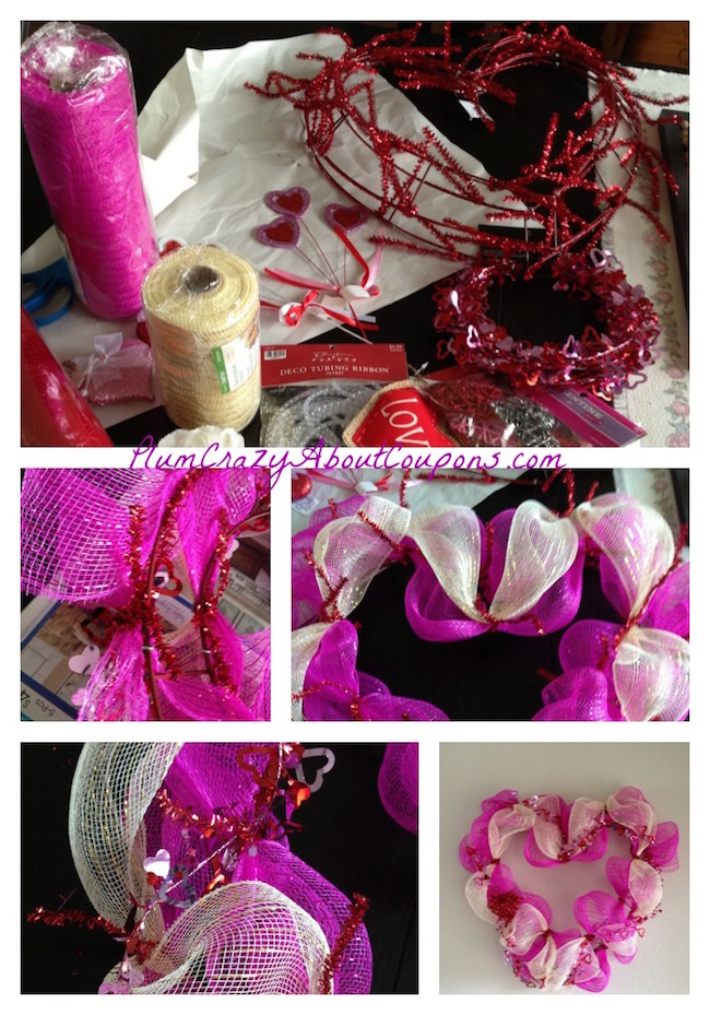 Valentine S Day Deco Mesh Wreath Tutorial Just Plum Crazy