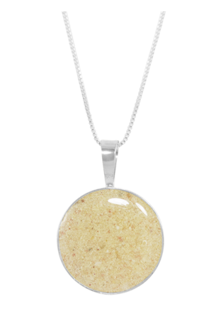 Dune Jewelry is custom made with sand from your favorite beach and has over 2800 beach sands to choose from worldwide. Surprise her with a memory.