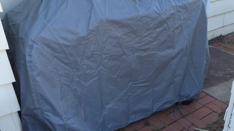 This grill cover comes in a variety of sizes and three different weather conditions. I received an extra large size made for extreme weather conditions.