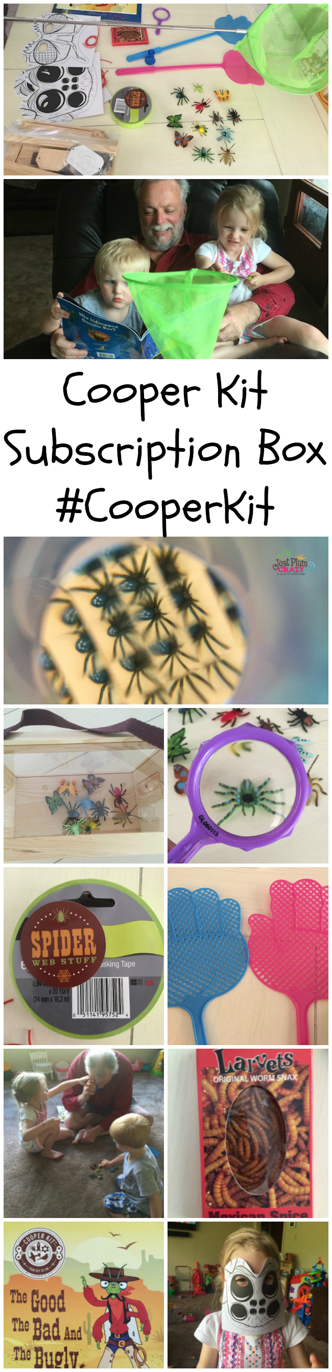 We received the Cooper Kit - The Good, The Bad & The Bugly box. It comes with a bug box that allows you to capture real bugs. It's made for kids ages 5-9.