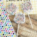 White Chocolate S'mores On a Stick Recipe Day 8 #12DaysOf