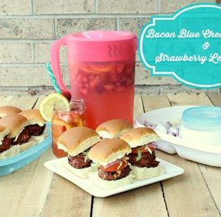 Today's recipe for Bacon Blue Cheese Sliders and are sure to be a crowd pleaser and goes great with delicious and easy Strawberry Lemonade Recipe.