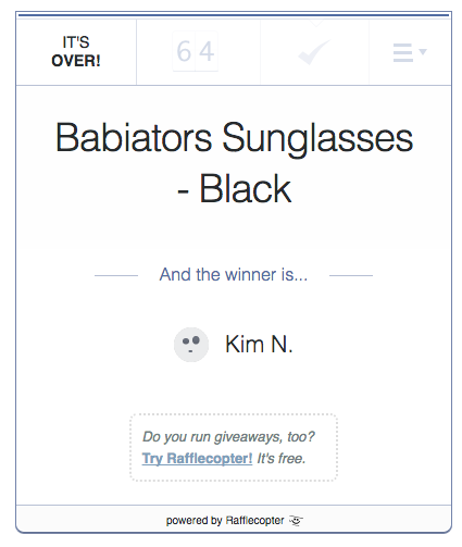 babiators sunglasses winner