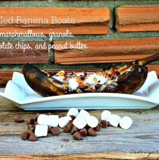 Grilling doesn't always have to mean meat - you can make dessert on the BBQ too! These grilled banana boats are a summertime favorite