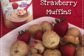 Lil' Bits Strawberry Muffins are made with a secret ingredient & are very moist. This is the perfect healthy choice recipe that everyone will love!