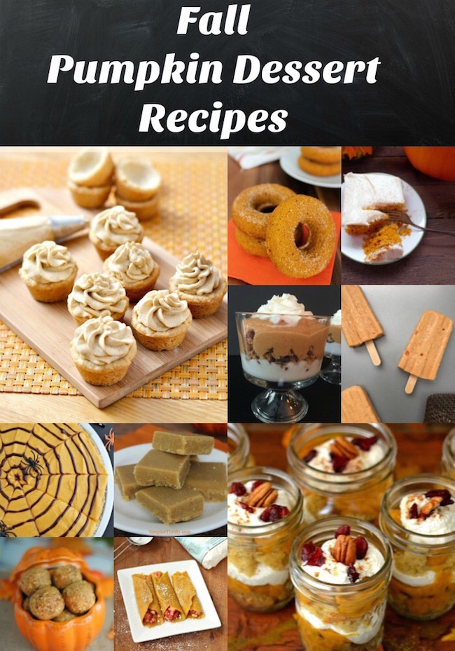 Cooler weather, sweaters, hot chocolate, pumpkins, pumpkin dessert recipes, and everything in between. Check out my favorite pumpkin dessert recipes.