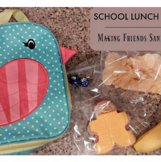 Day 5 of the 12 Days of School Lunches. Check out these easy-to-make friend sandwiches that are guaranteed to put a smile on your child's face!