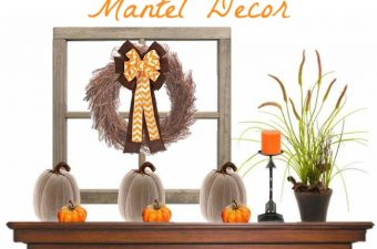 Fall is here and it's time to start thinking about your fall fireplace mantel decor. I love decorating my fireplace mantel