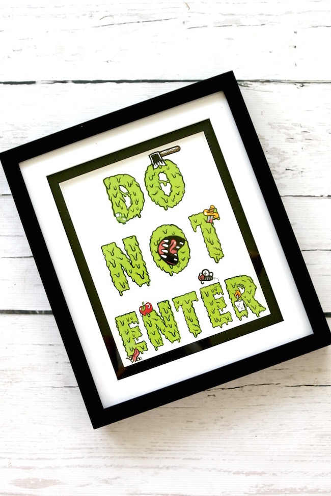 photograph relating to Do Not Enter Sign Printable referred to as Creepy Free of charge Printable Indicator \