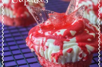 This recipe is basically how to make the broken glass for the cupcakes. You can use a strawberry or watermelon mix for the broken glass cupcakes.
