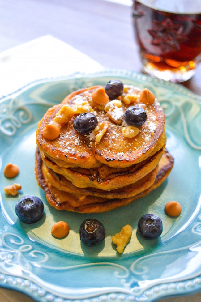 Pancakes made with pumpkin and butterscotch