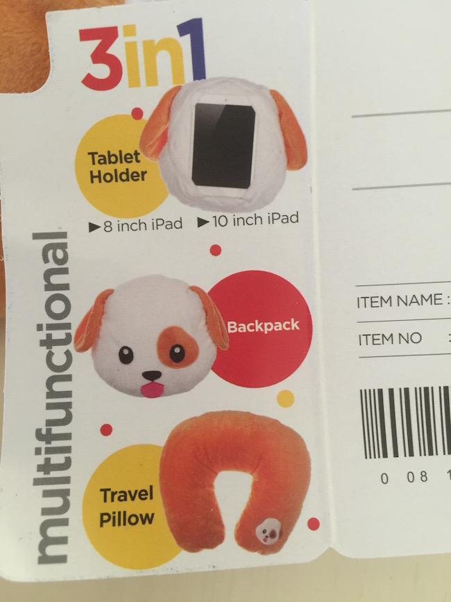 We received the Dog Emoji Pillow which the main purpose is to hold an iPad. But it's not just a pillow! It serves as multiple things.