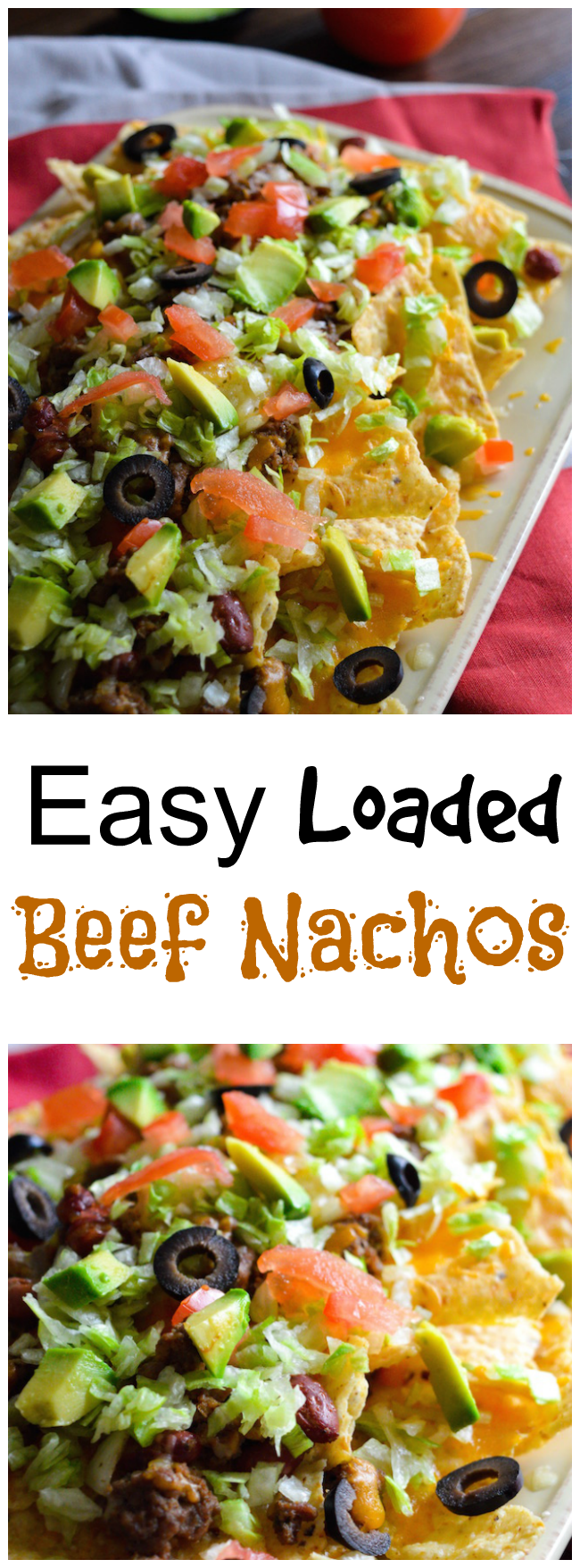 Are you ready for some football? How about an Easy Loaded Beef Nachos recipe that's perfect for the football get together?