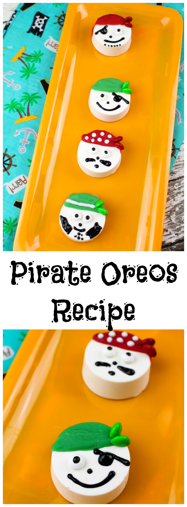 """In honor of National """"talk like a pirate day"""" (Sept. 19) we have a fun Pirate Oreos recipe for you. The kids will love them."""