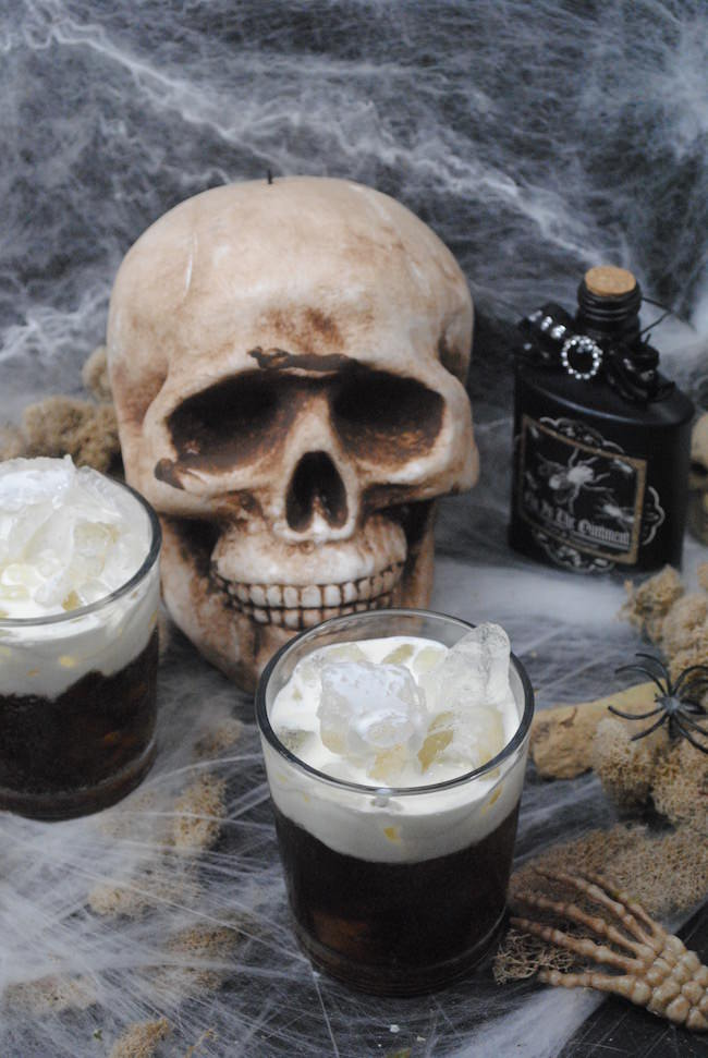 Today we are sharing a Dead Man's Cocktail recipe. With a little bit of rum, coffee liquor, some of this & some of that..this is one fun party drink.
