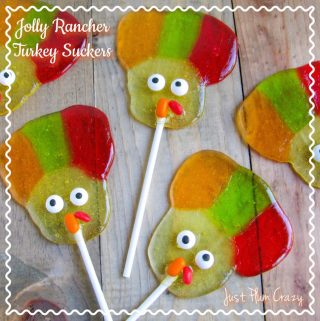The Easy Jolly Rancher Turkey Suckers recipe is fun for everyone. And the kids will love eating them too as a Thanksgiving snack.